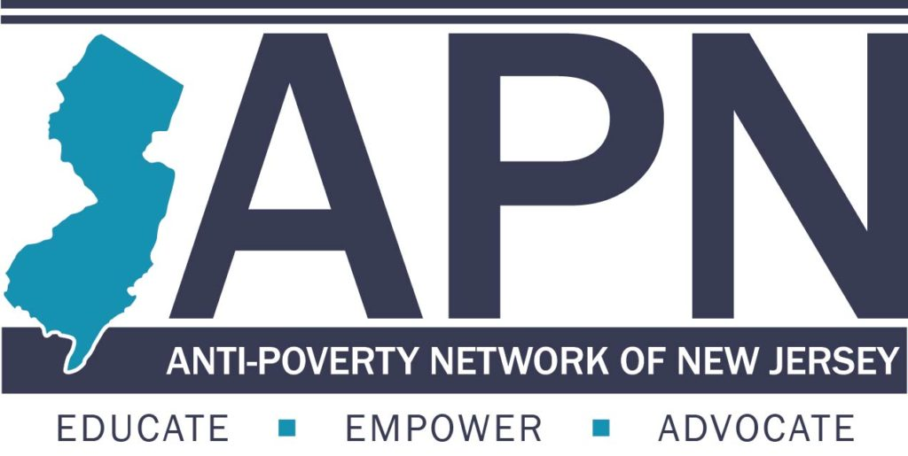 Anti-Poverty Network logo showing that they have joined with more than 50 organizations in support of action on climate change