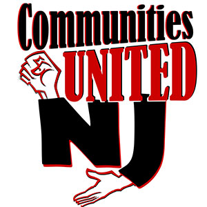 New Jersey Communities United logo showing that they have joined with more than 50 organizations in support of action on climate change