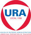 Union of Rutgers Administrators logo showing that they have joined with more than 50 organizations in support of action on climate change