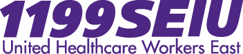 1199 SEIU logo showing that they have joined with more than 50 organizations in support of action on climate change
