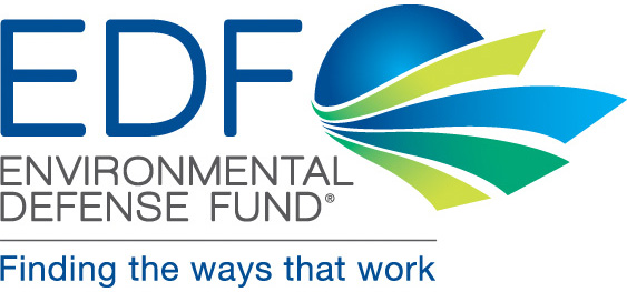 Environmental Defense Fund logo showing that they have joined with more than 50 organizations in support of action on climate change