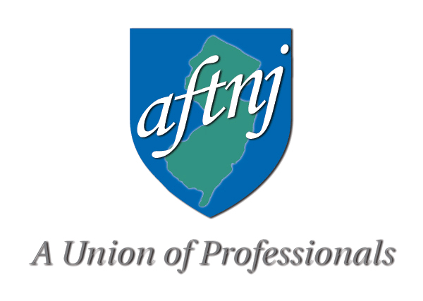 American Federation of Teachers New Jersey logo showing that they have joined with more than 50 organizations in support of action on climate change