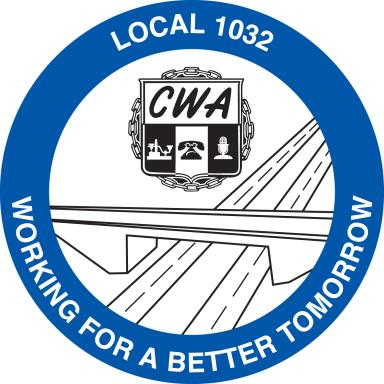 CWA Local 1032 logo showing that they have joined with more than 50 organizations in support of action on climate change