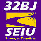 32BJ logo showing that they have joined with more than 50 organizations in support of action on climate change