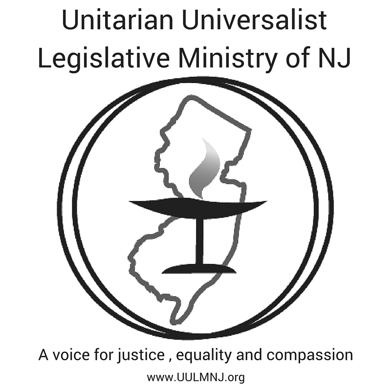 Unitarian Universalist Legislative Ministry of New Jersey logo showing that they have joined with more than 50 organizations in support of action on climate change