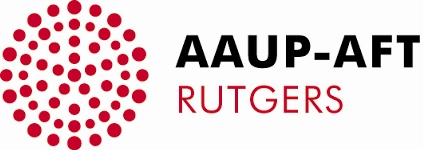 AAUP-AFT Rutgers logo showing that they have joined with more than 50 organizations in support of action on climate change