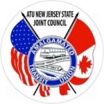 Amalgamated Transit Union New Jersey logo showing that they have joined with more than 50 organizations in support of action on climate change