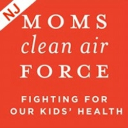 Mom's Clean Air Force New Jersey logo showing that they have joined with more than 50 organizations in support of action on climate change