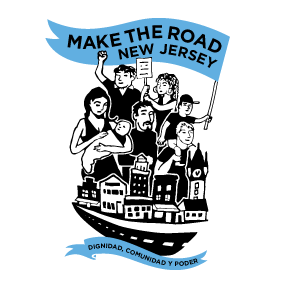 Make the Road New Jersey logo showing that they have joined with more than 50 organizations in support of action on climate change