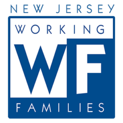 New Jersey Working Families logo showing that they have joined with more than 50 organizations in support of action on climate change