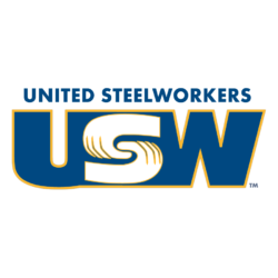 United Steelworkers logo showing that they have joined with more than 50 organizations in support of action on climate change