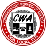 CWA Local 1036 logo showing that they have joined with more than 50 organizations in support of action on climate change