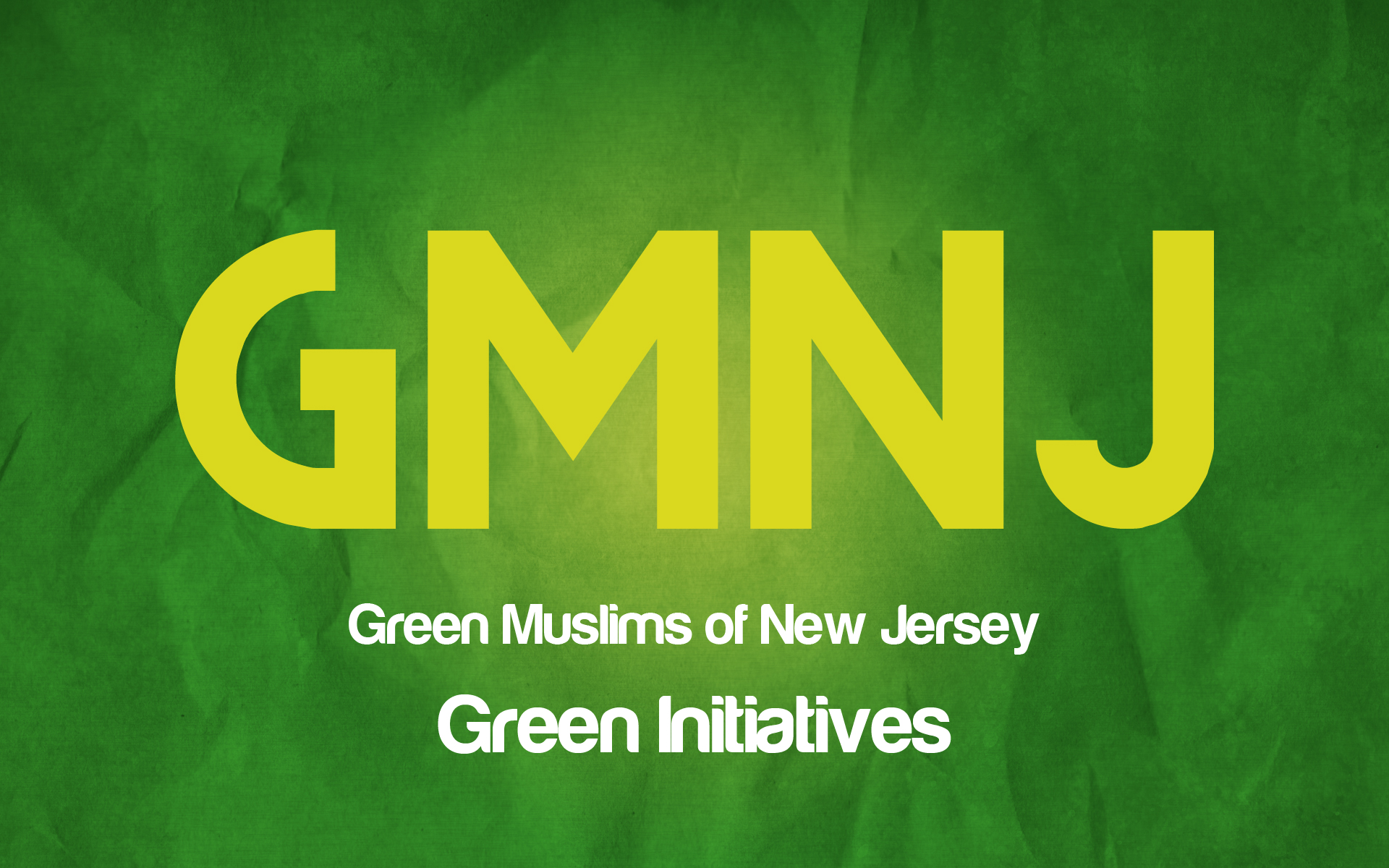Green Muslims of New Jersey logo showing that they have joined with more than 50 organizations in support of action on climate change