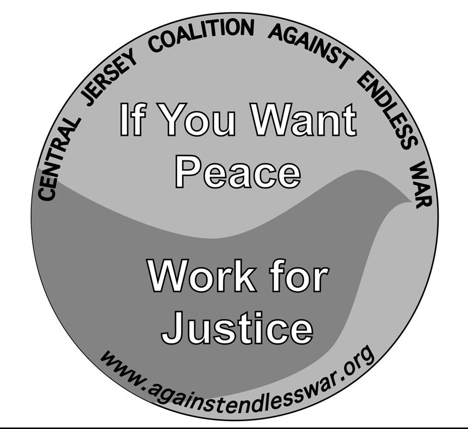 Central Jersey Coalition Against Endless War logo showing that they have joined with more than 50 organizations in support of action on climate change