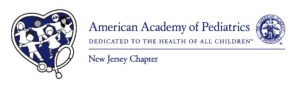New Jersey American Academy of Pediatrics logo showing that they have joined with more than 50 organizations in support of action on climate change