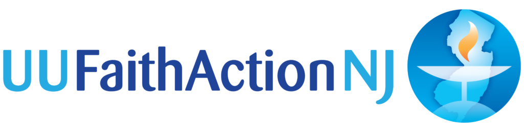 Unitarian Universalist Faith Action logo showing that they have joined with more than 50 organizations in support of action on climate change